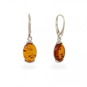 Amber Earrings | Sterling silver | Height - 35mm, Width - 10mm | Weight - 3,5g | ZD.979K