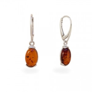 Amber Earrings | Sterling silver | Height - 33mm, Width - 8mm | Weight - 2,7g | ZD.978K