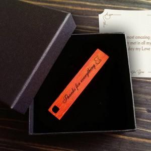 Cool USB Flash Drive | USB 2.0 16GB | Wenge, Merbau or Mahogany wood | Available in 10 fonts nad Ikons