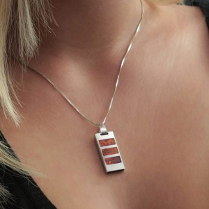 Necklace Usb Flash Drive | USB 2.0 16GB | Sterling Silver | Baltick Amber | Silver chain | Available in 10 fonts nad Ikons