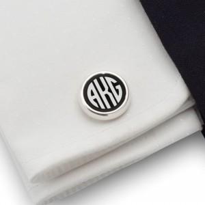 Monogram Cufflinks | Sterling sillver | Onyx stone | ZD.109