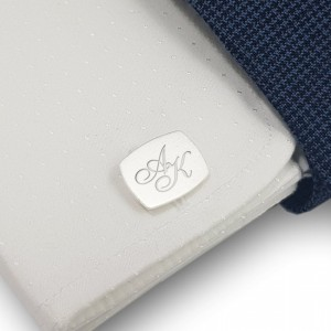 Sterling silver Cufflinks | Available in 10 fonts | Sterling silver | ZD.222
