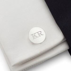 Engraved Sterling Silver Cufflinks | Available in 10 fonts | Sterling sillver | ZD.132