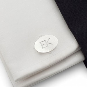 Engraved Sterling Silver Cufflinks | Available in 10 fonts | Sterling sillver | ZD.ZD.144