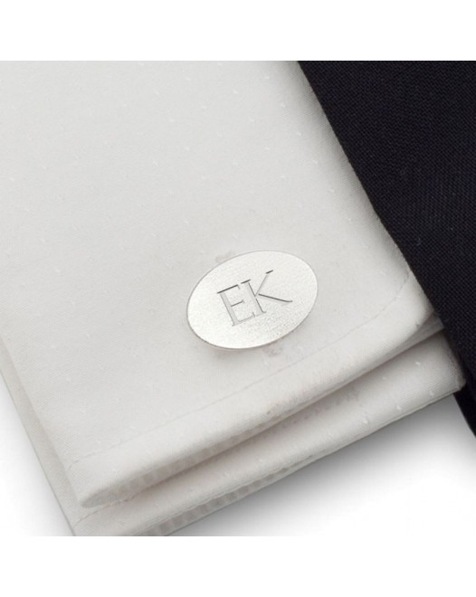 Engraved Sterling Silver Cufflinks | Available in 10 fonts | Sterling silver | ZD.ZD.144