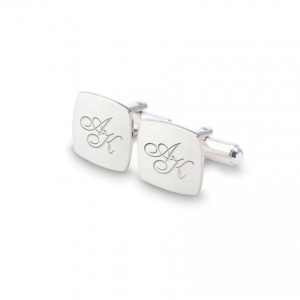 Sterling silver Cufflinks   Available in 10 fonts   Sterling silver   ZD.125
