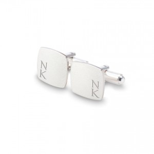 Sterling silver Cufflinks | Available in 10 fonts | Sterling silver | ZD.126