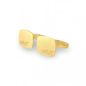 Custom Gold Cufflinks | Available in 10 fonts | Sterling silver gold plated | ZD.221Gold