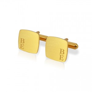 Custom Gold Cufflinks | Available in 10 fonts | Sterling silver gold plated | ZD.126Gold