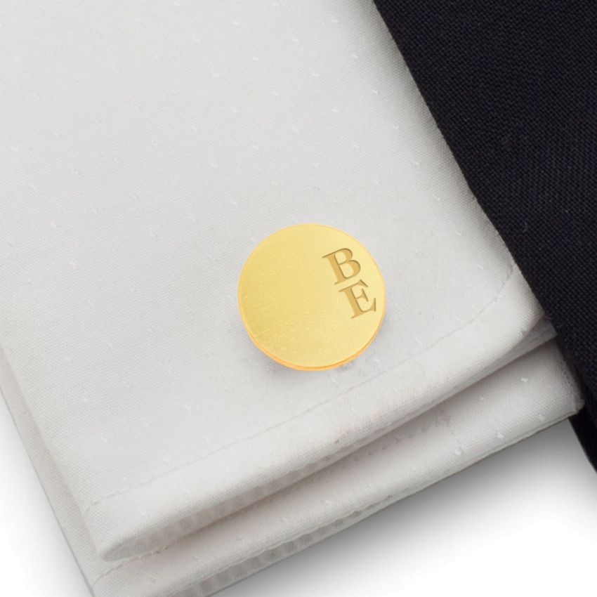 Custom Gold Cufflinks | Available in 10 fonts | Sterling silver gold plated | ZD.166Gold