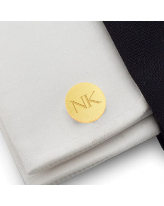 Custom Gold Cufflinks | Available in 10 fonts | Sterling silver gold plated | ZD.132Gold
