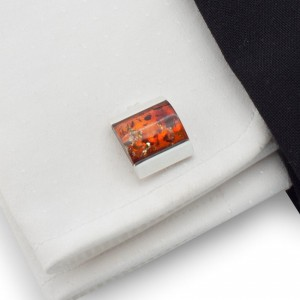 Amber Cufflinks | Sterling silver | Natural Baltick Amber | ZD.8