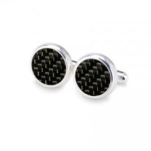 Carbon Cufflinks | Sterling silver | Carbon Fibre | ZD.43