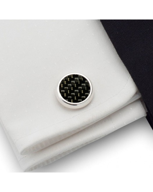 Carbon Cufflinks | Sterling silver | Carbon Fibre | ZD.43