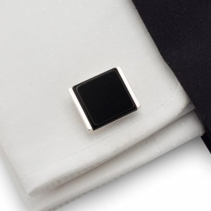 Black Onyx Cufflinks |  Sterling sillver | Onyx stone | ZD.31