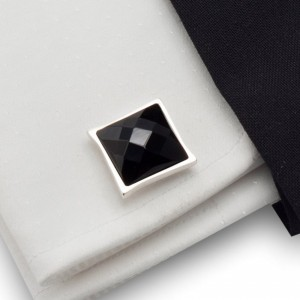 Design Cufflinks |  Sterling silver | Onyx stone | ZD.33