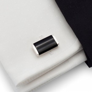 Black Cufflinks |  Sterling silver | Onyx stone | ZD.36