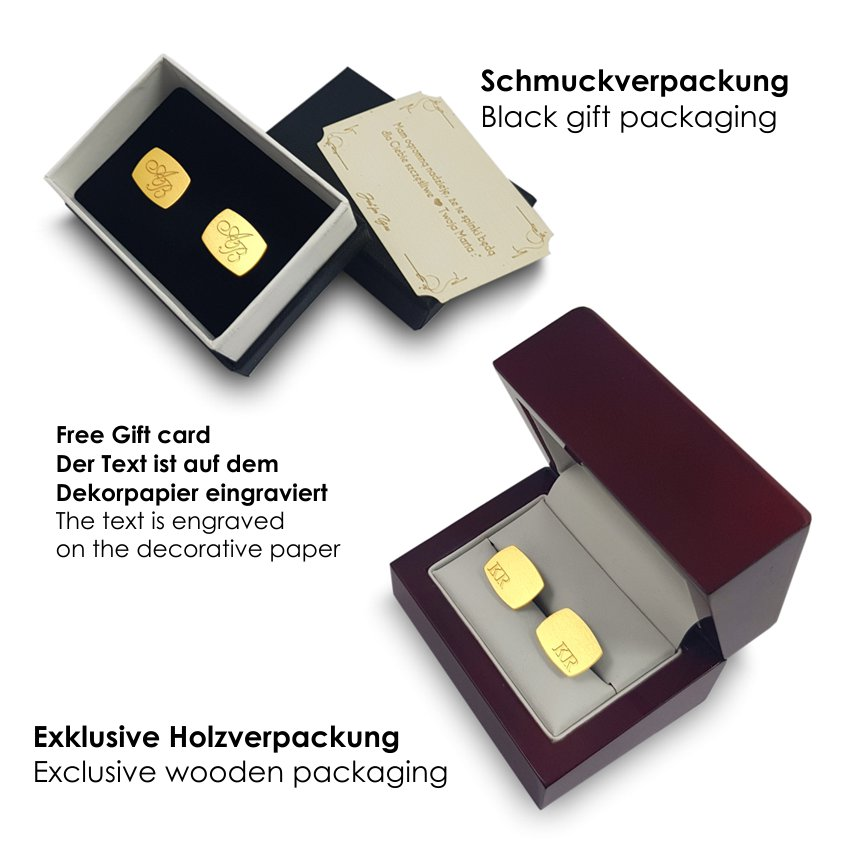 Custom Gold Cufflinks | Available in 10 fonts | Sterling silver gold plated | ZD.223Gold