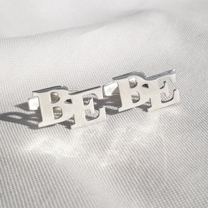 Sterling silver Initial Letter Cufflinks | Two Initial | Sterling silver | Available in 6 fonts | ZD.302