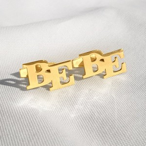 Gold Initial Letter Cufflinks | Two Initial | Sterling silver gold plated | Available in 6 fonts | ZD.302G