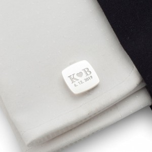Engraved Cufflinks | Love Gifts for Men | Sterling silver | ZD.128