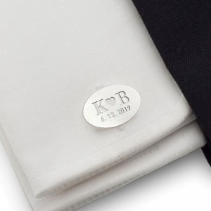 Engraved Cufflinks | Love Gifts for Men | Sterling silver | ZD.141